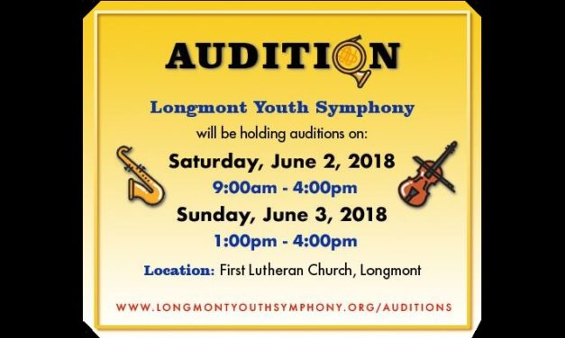 Longmont Youth Symphony 2018 Auditions – June 2 & 3