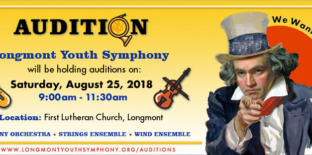 Longmont Youth Symphony: Auditions – Aug. 25