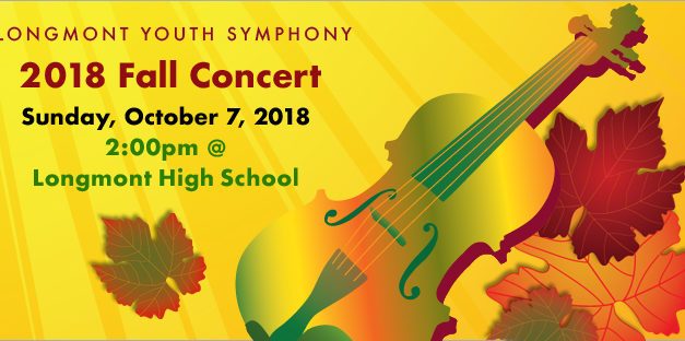 Longmont Youth Symphony: Fall Concert – Oct. 7