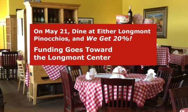 LPAI Restaurant Fundraiser: Dine at Longmont Pinocchios – Tuesday May 21