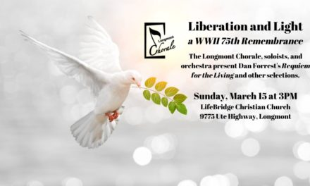 (Cancelled) Longmont Chorale: Liberation and Light – Mar 15